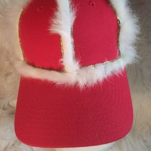 Other - Custom Designed Red w/ Genuine Fur Details. Adjust